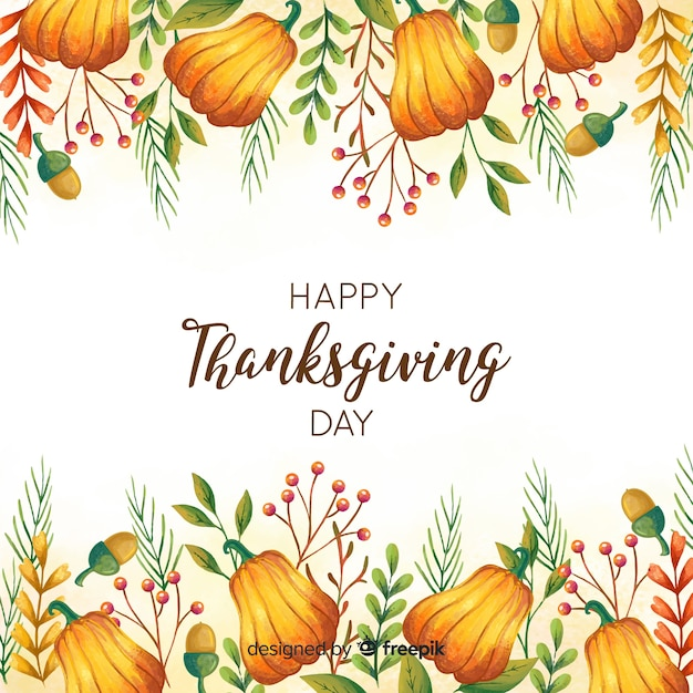 Lovely thanksgiving day composition Free Vector
