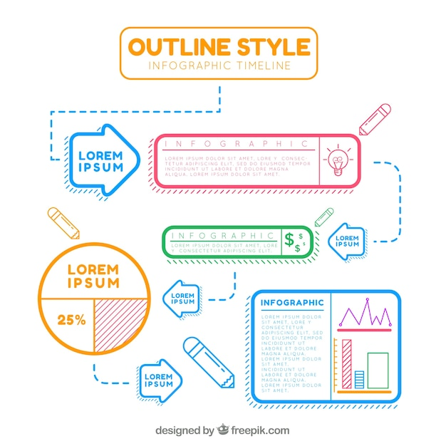 Lovely Timeline Template Vector Free Download - Timeline template free