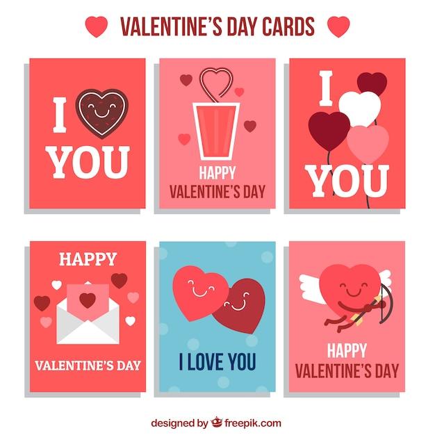 Lovely valentine day cards Vector – Lovely Valentine Cards