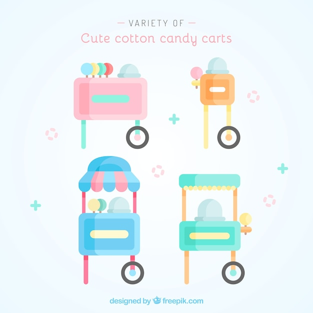 Lovely variety of cotton candy carts