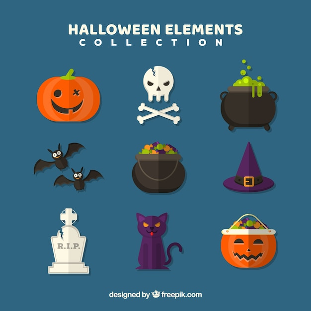 Lovely variety of modern halloween elements