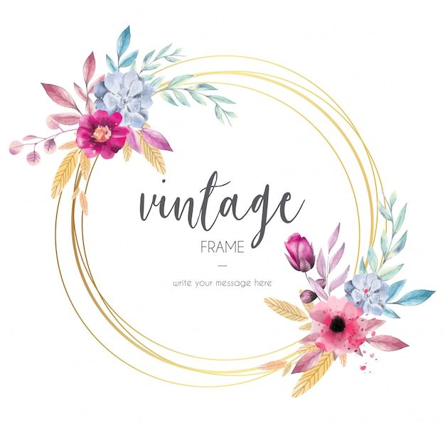 Lovely Vintage Frame Vector Free Download