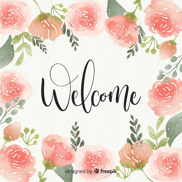 Lovely watercolor welcome composition Vector | Free Download