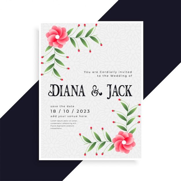 Lovely Wedding Invitation Card Design Vector Free Download