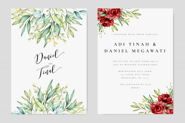 Wedding Invitation Free Download Software: Lovely Wedding Invitation Template Vector