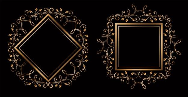 Cornici reali ornamentali matrimonio incantevole con lo spazio del testo Vettore gratuito
