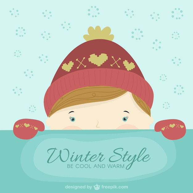 Lovely winter style Free Vector