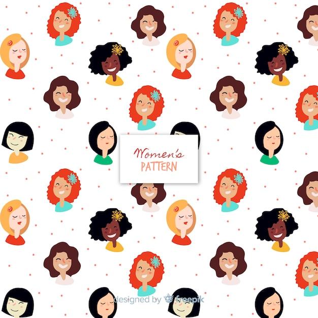 Lovely women's pattern Free Vector