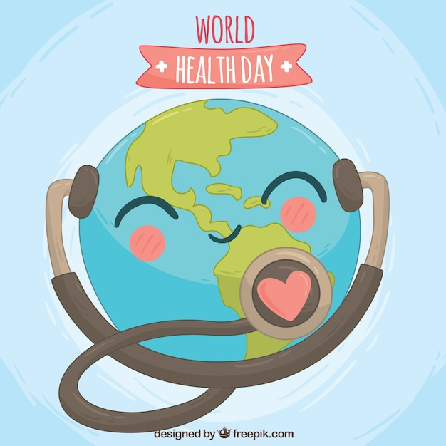 lovely world health day background with stethoscope vector
