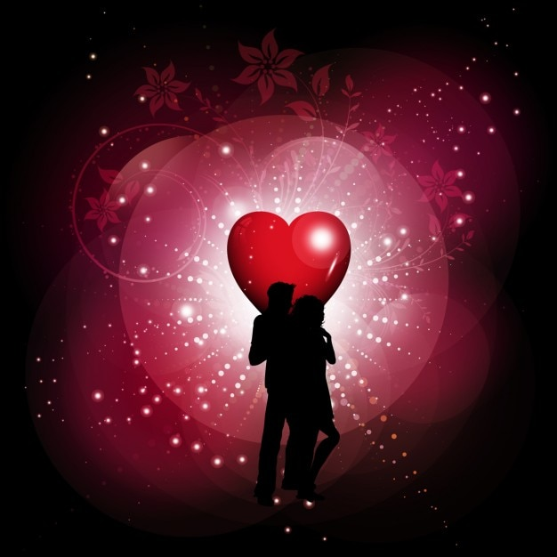 Lovers silhouette on a dark background vector free download for 2 lovers pic
