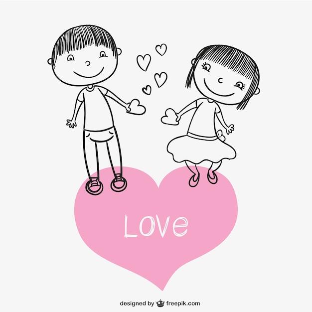 Download Vector Loving Couple Drawing Vectorpicker