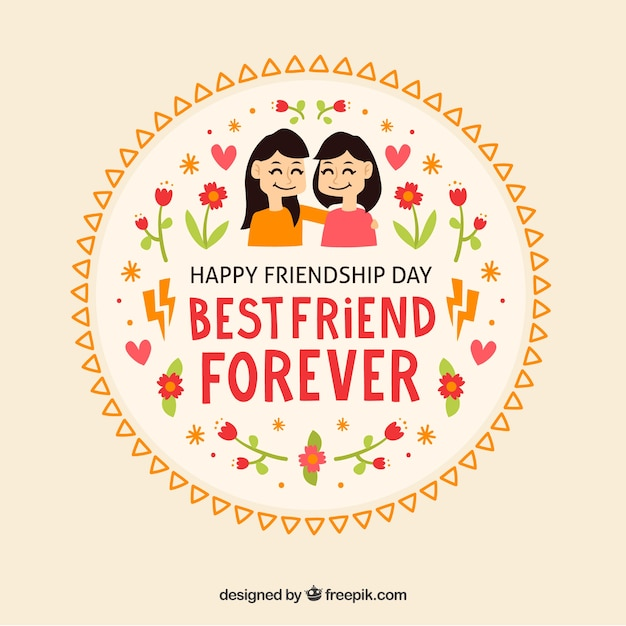 Lovley Friendship Day Badges Free Vector