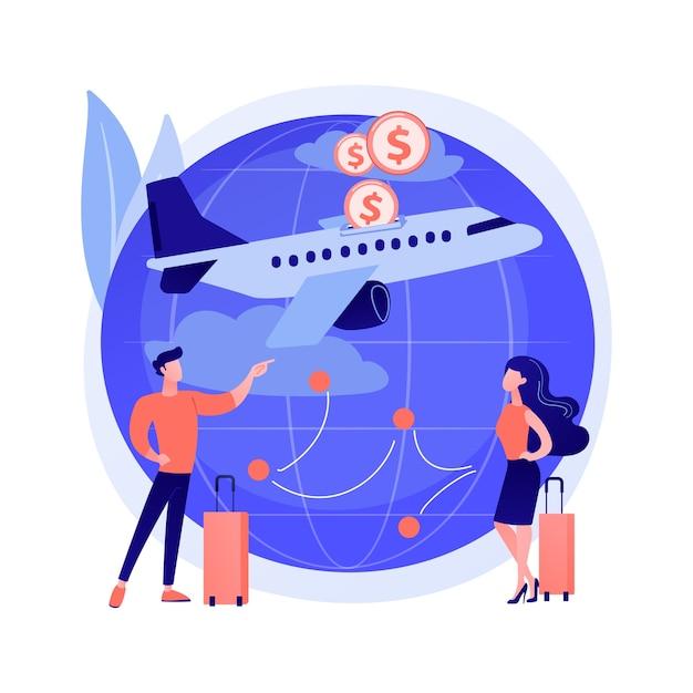 Illustrazione di concetto astratto di voli low cost Vettore gratuito