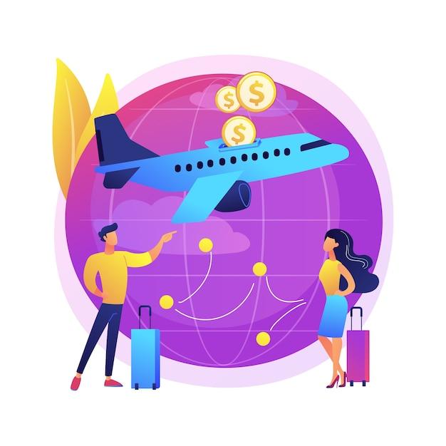Illustrazione di voli low cost Vettore gratuito