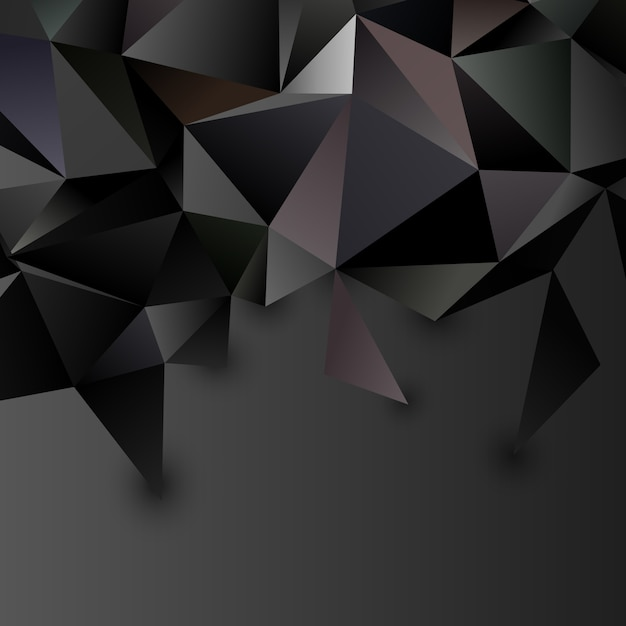 Low poly abstract futuristic background Free Vector