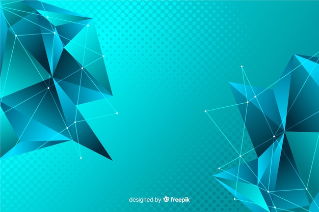 Low poly abstract polygonal shapes background Free Vector