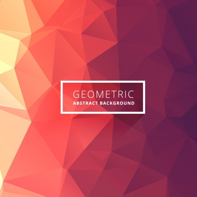 Low poly background in warm tones Free Vector