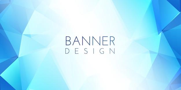 Banner low poly Vettore gratuito