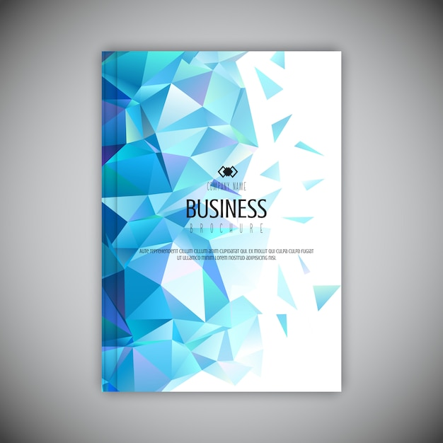 Low poly business brochure  Free Vector