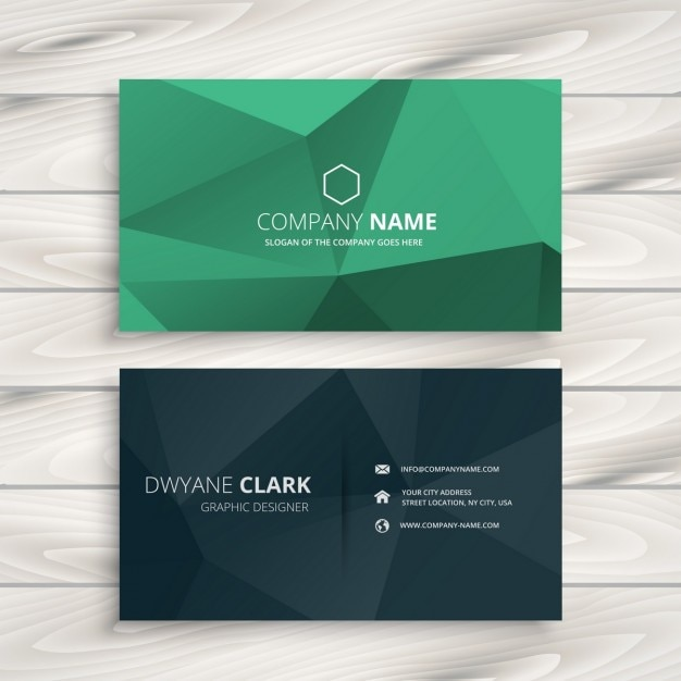 Low poly business card template vector free download low poly business card template free vector wajeb Choice Image