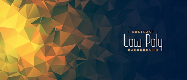 Low poly glowing background with small triangle shapes Free Vector