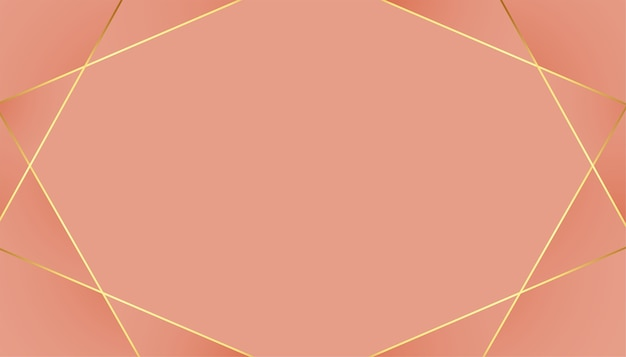 Low poly golden lines pastel color background Free Vector