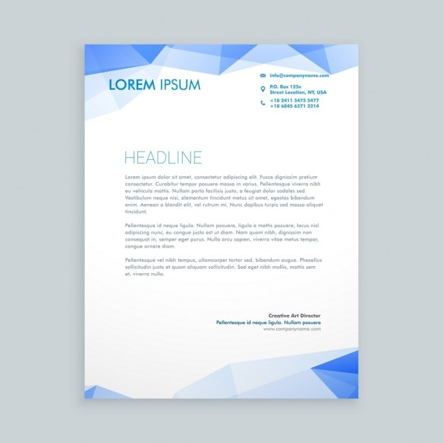 Low poly letterhead design vector free download low poly letterhead design free vector spiritdancerdesigns