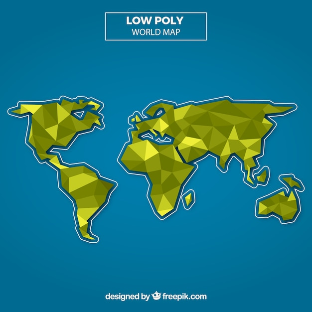 Low poly map background with blue background vector free download low poly map background with blue background free vector gumiabroncs Image collections