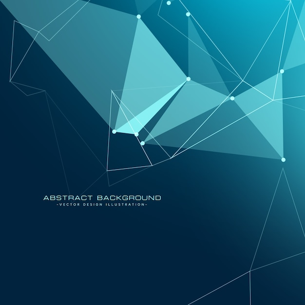 Low poly technology background Free Vector