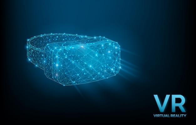 Low poly vr glasses illustration Premium Vector