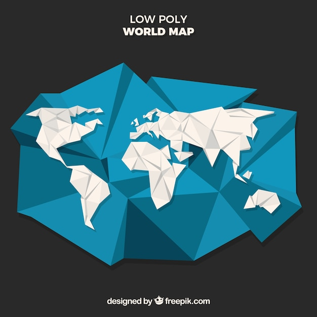 Low poly world map with black background vector free download low poly world map with black background free vector gumiabroncs Image collections