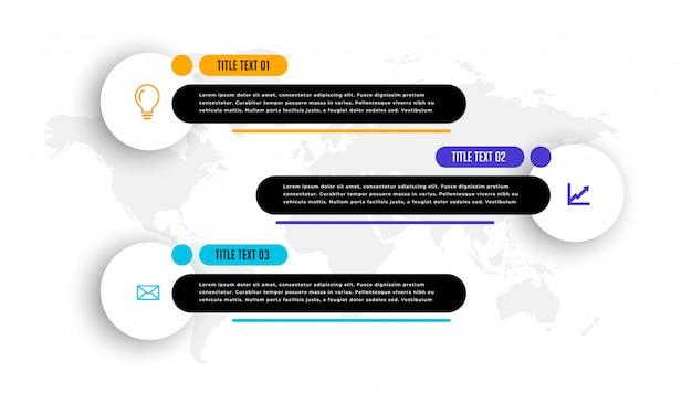 Нижний третий стиль три бизнес инфографики шаблон Бесплатные векторы