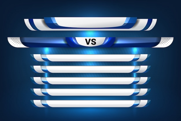 Lower thirds template for soccer and football Premium Vector