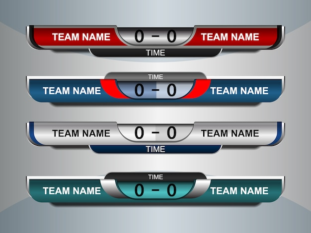 Lower thirds template for sport and soccer Premium Vector