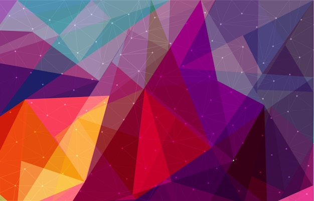 Lowpoly triangular geometric polygonal cool abstract background Premium Vector