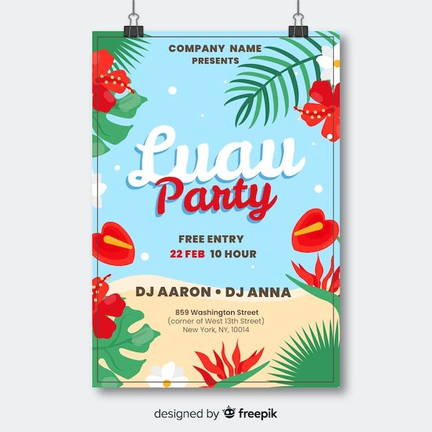 Luau party banner Бесплатные векторы