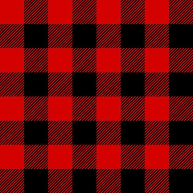 Lumberjack plaid seamless pattern Premium Vector