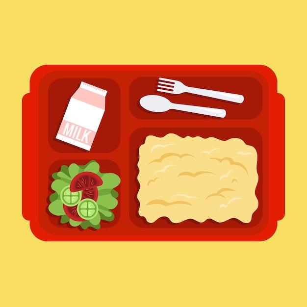 Lunch box Premium Vector