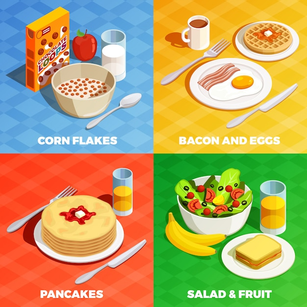 Lunch meal design concept Free Vector