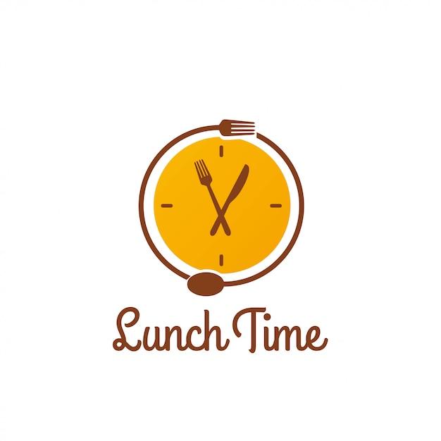 Lunch time logo Premium Vector