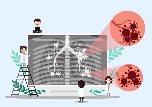 Lung organ anatomy symbol Premium Vector