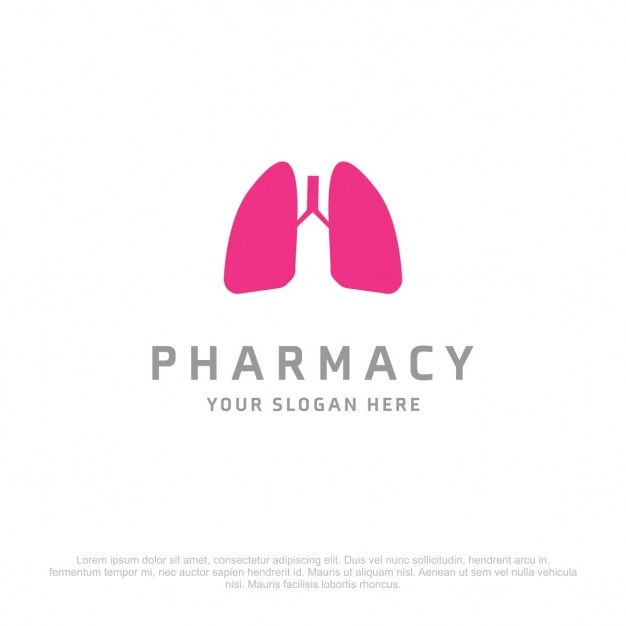 Lungs logo Free Vector