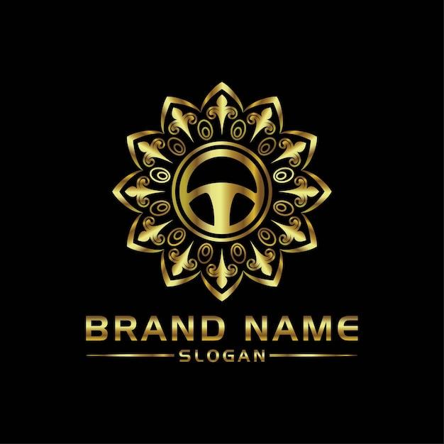 Luxuri car logo Premium Vector