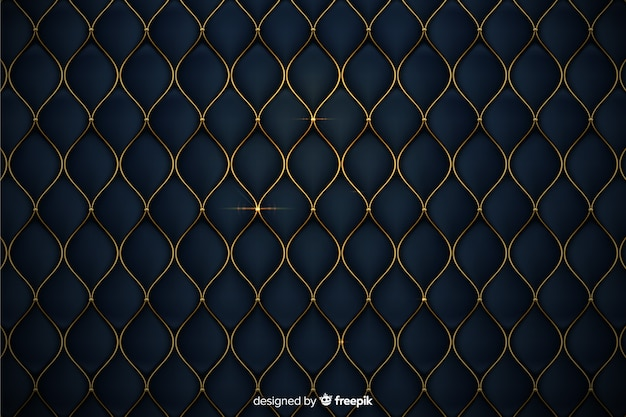 Luxurious background with golden shapes Free Vector