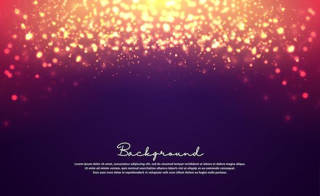 Luxurious bokeh glitter background. Premium Vector