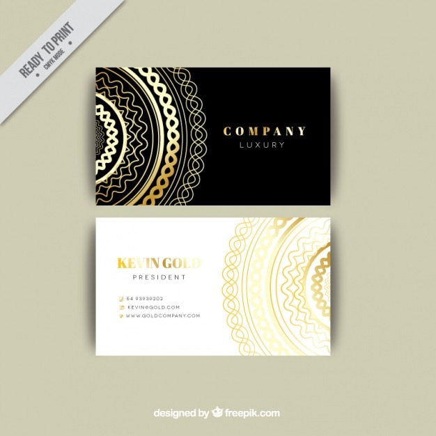 Luxurious business card template vector free download luxurious business card template free vector reheart Choice Image