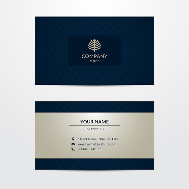 Luxurious business card template Free Vector