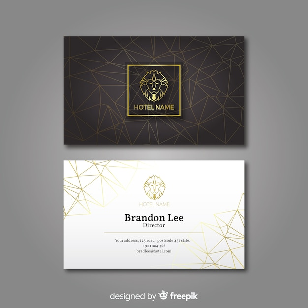 Luxurious business card Free Vector
