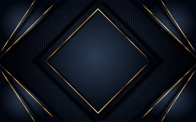 Luxurious dark background with gold glitter Premium Vector