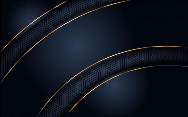 Роскошный темный фон с золотым блеском Premium векторы